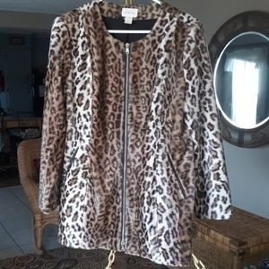 Chico leopard skin jacket